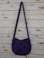 CB-004 PURPLE BIRD HILL TRIBE CROSSBODY BAG
