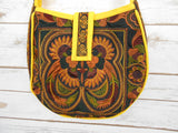 CB-007 MOCHA BIRD HILL TRIBE CROSSBODY BAG