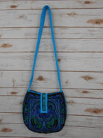 CB-008 BLUE BIRD HILL TRIBE CROSSBODY BAG