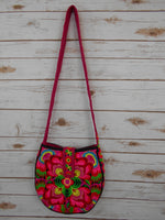 CB-009 FLOWERS HILL TRIBE CROSSBODY BAG - BLACK