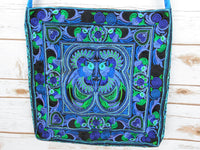CL-002 BLUE BIRDS PATTERN HILL TRIBE CROSSBAG (M)