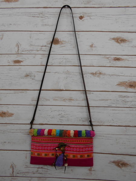 CS-001 VINTAGE HMONG EMBROIDERED CROSSBODY BAG