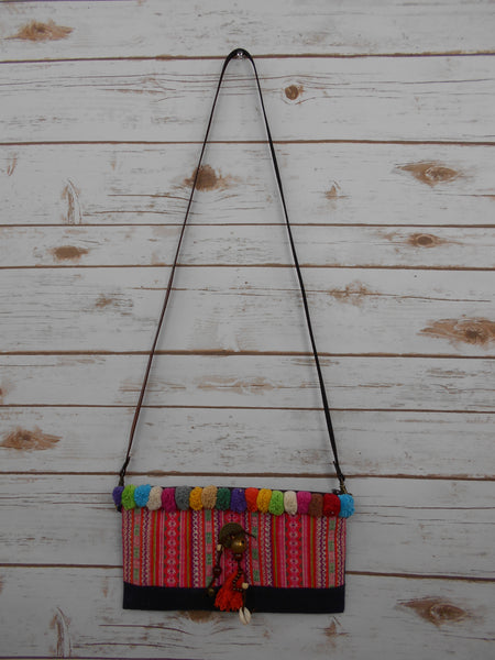 CS-002 VINTAGE HMONG EMBROIDERED CROSSBODY BAG