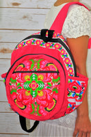 PC-001 FLOWER EMBROIDERED TRIBAL BACKPACK