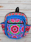 PC-002 FLOWER EMBROIDERED TRIBAL BACKPACK