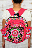 PC-003 FLOWER EMBROIDERED TRIBAL BACKPACK