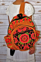 PC-004 FLOWER EMBROIDERED TRIBAL BACKPACK