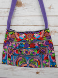 SA-001 MULTI BIRDS PATTERN HILL TRIBE TOTE SHOULDER BAG (MINI)