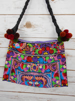 SB-001 MULTI BIRDS PATTERN HILL TRIBE TOTE SHOULDER BAG (MINI)