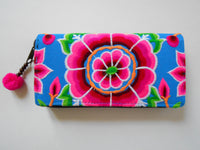 W-001 SILK WORM HMONG EMBROIDERED WALLET