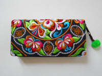 W-002 UNIQUE HMONG EMBROIDERED FABRIC WALLET