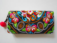 W-003 UNIQUE HMONG EMBROIDERED FABRIC WALLET