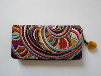 W-005 HMONG EMBROIDERED FABRIC WALLET
