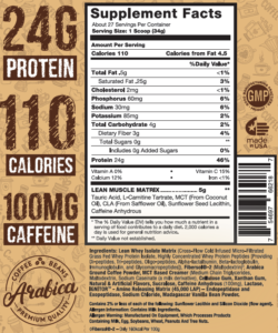 Lean Whey Cafe Series 2lb