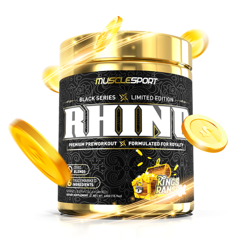 Muscle Sport Rhino Black Pre Workout LIMITED EDITION Kings Ransom