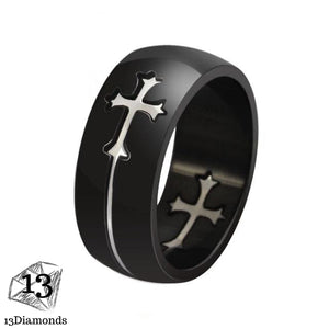 Admirable Cross Ring 7 / Silver Cross Rings