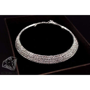 Classic Crystal Necklace Earrings & Bracelet Set Sets