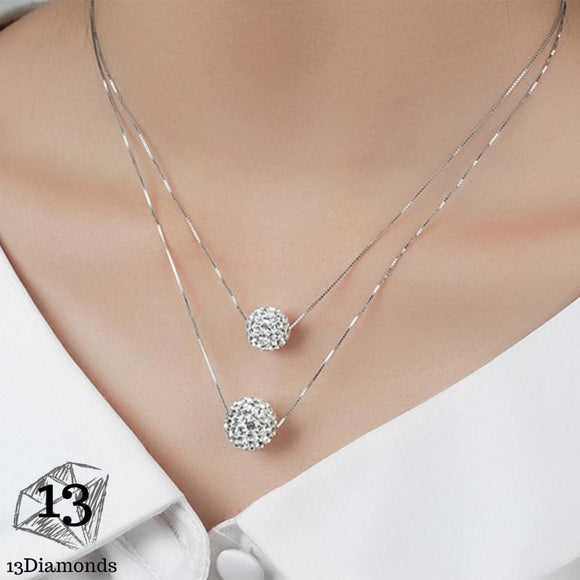 Double Ball Pendants Necklace Necklaces