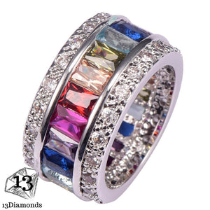 Silver Gorgeous Ring 10 / Multi Rings
