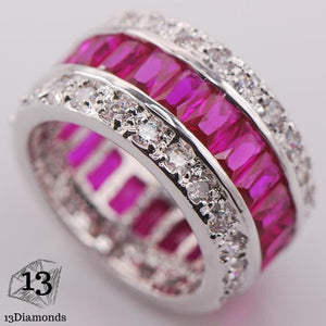Silver Gorgeous Ring 10 / Pink Rings