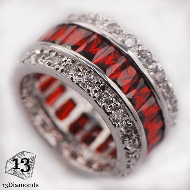 Silver Gorgeous Ring 10 / Red Rings