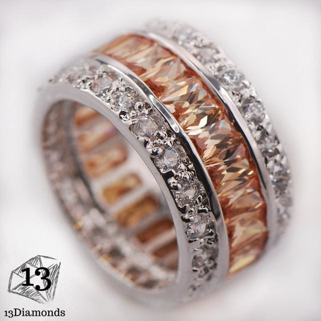 Silver Gorgeous Ring 10 / Rose Gold Rings