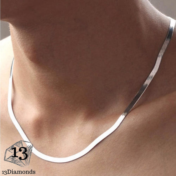 Silver Necklace Chain Necklaces