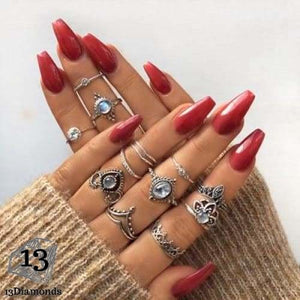 Vintage Set of Rings 2036-silver Rings