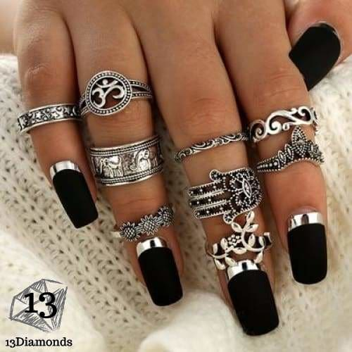 Vintage Set of Rings 4618-silver Rings