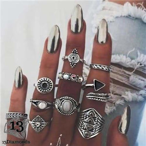 Vintage Set of Rings 4846-silver Rings