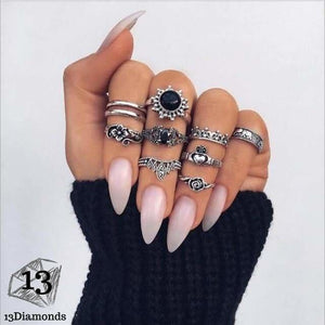Vintage Set of Rings 4985-silver Rings