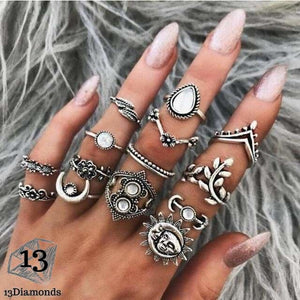 Vintage Set of Rings 6226-silver Rings