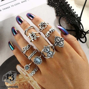 Vintage Set of Rings 6343-silver Rings