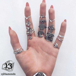 Vintage Set of Rings 6391-silver Rings