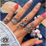 Vintage Set of Rings 6047-silver Rings