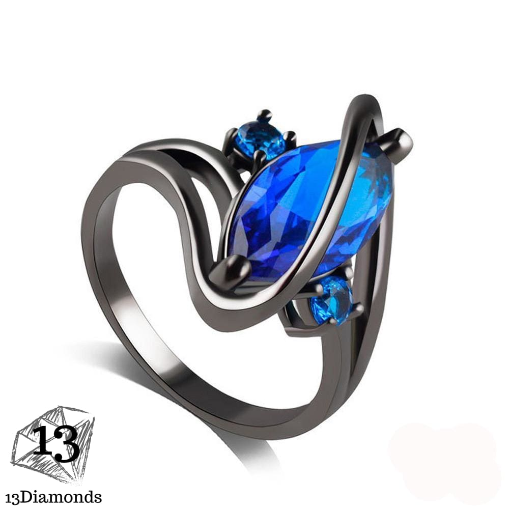 Zircon Stunning Ring Blue / 10 Rings