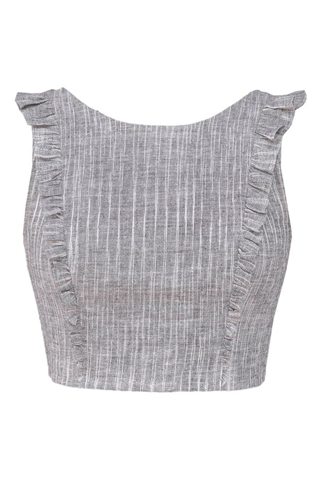 Pari Crop - Grey/Black