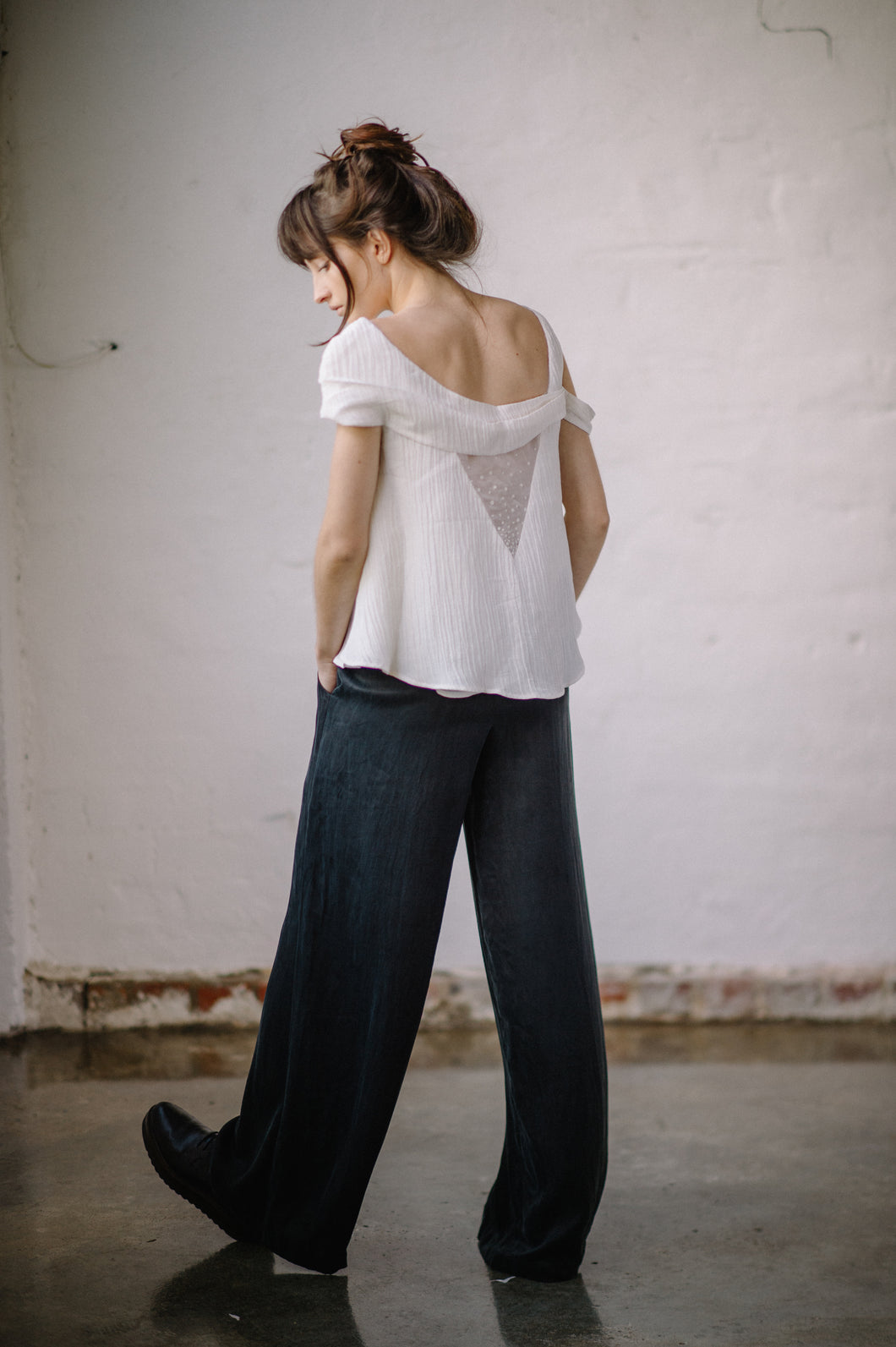 Sage Trouser - Peace Silk