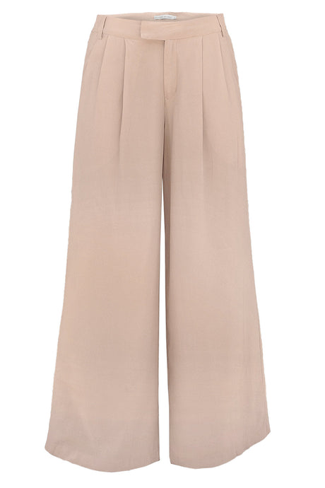 Sage Trouser - Peace Silk - Black/Nude