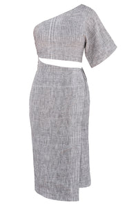 Virago Dress - Grey/Black/White