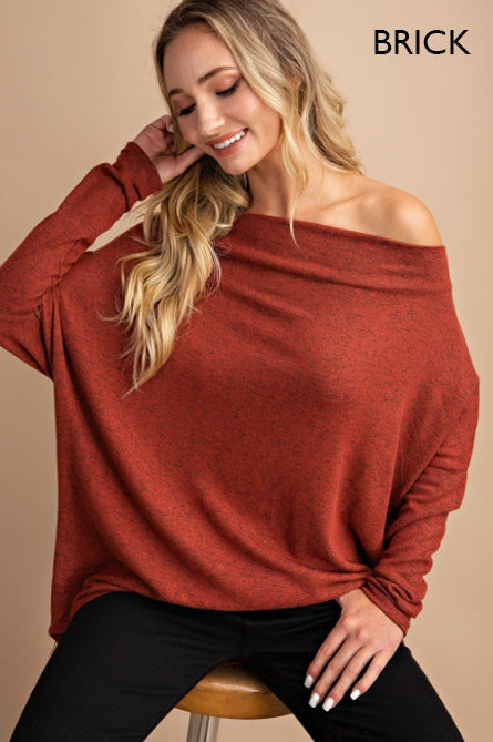 Long Sleeve Off Shoulder Dolman Top