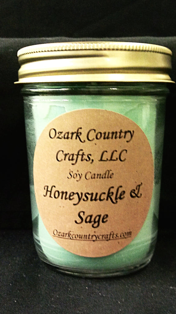 Honeysuckle & Sage Soy Candle - Jelly Jar