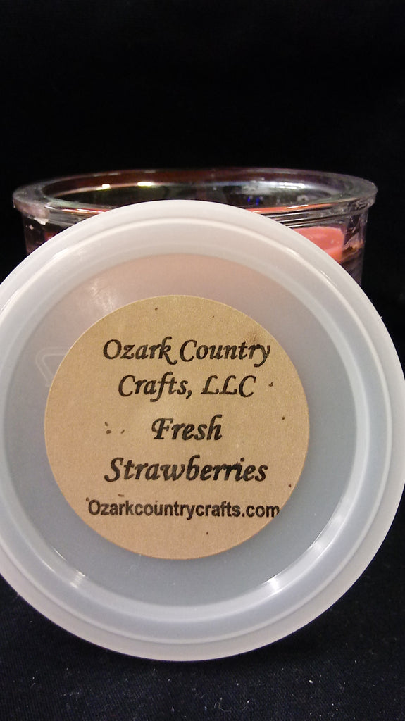 Fresh Strawberries Flowerpot Soy Candle