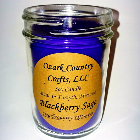Blackberry Sage Soy Candle - Jelly Jar