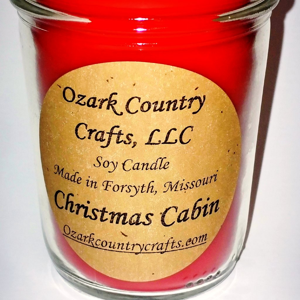 Christmas Cabin Soy Candle - Jelly Jar