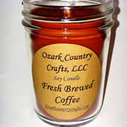 Fresh Brewed Coffee Soy Candle - Jelly Jar