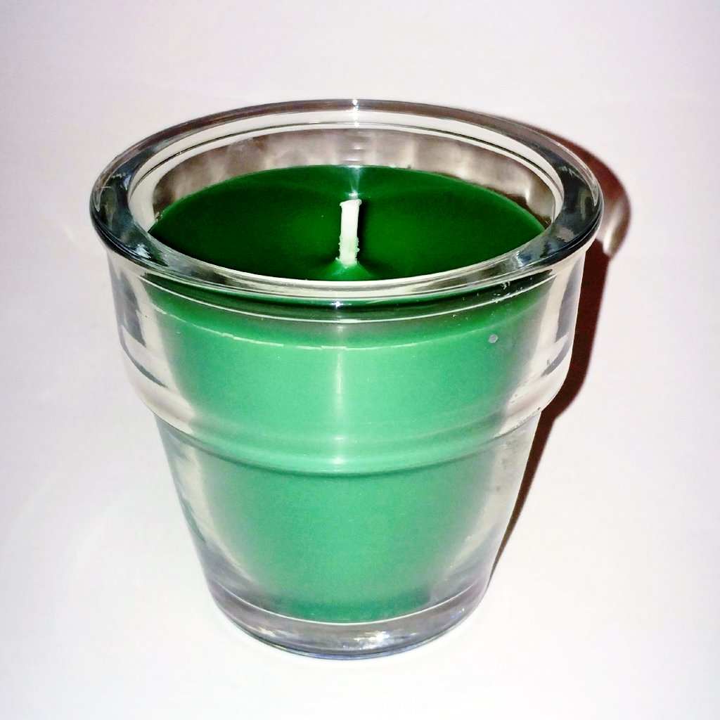 Green Clover and Aloe Soy Candle - Flowerpot