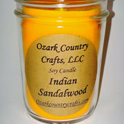 Indian Sandalwood Soy Candle - Jelly Jar