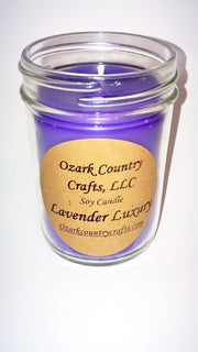 Lavender Luxury Soy Candle - Jelly Jar