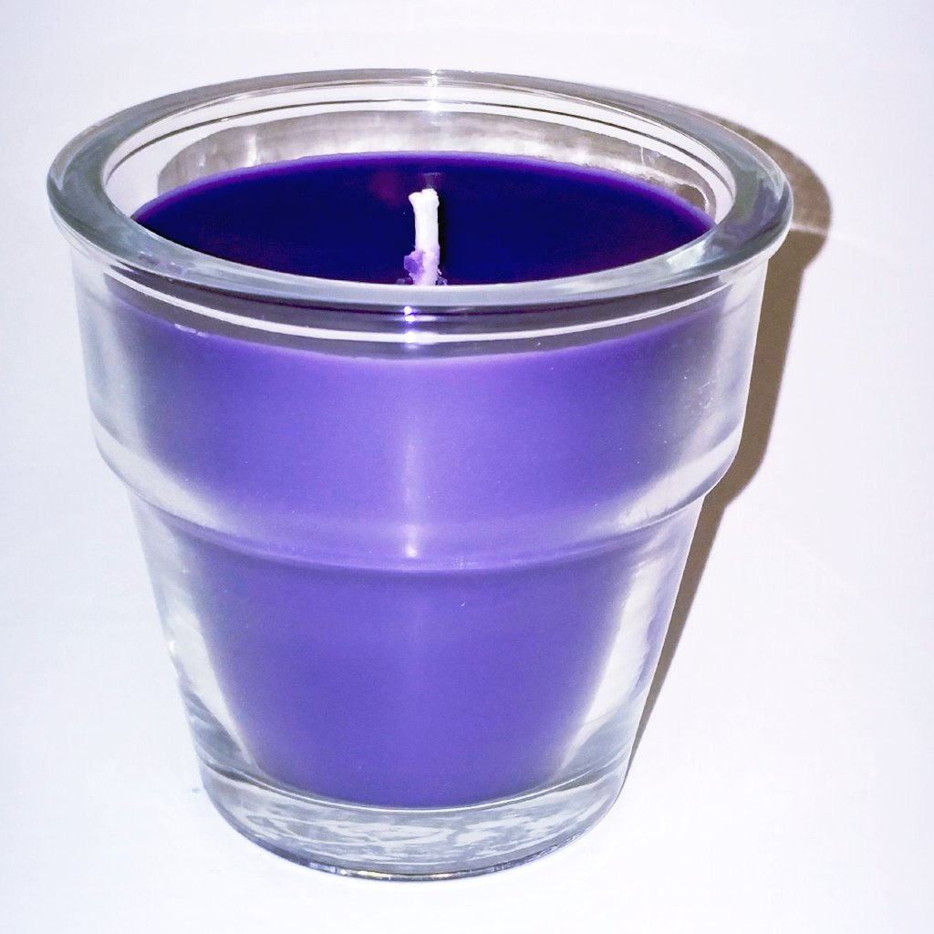 Lavender Luxury Soy Candle - Flowerpot